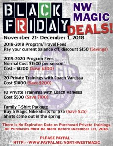 Spring Black Friday 2020.Black Friday Nw Magic Deals Northwest Magic